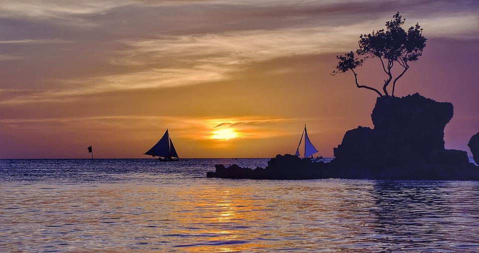 Boracay zonsondergang