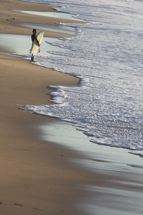 Biarritz frankrijk surfen