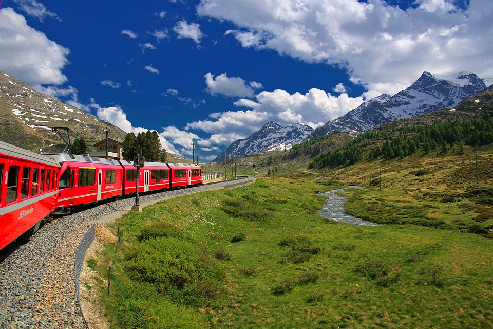 Glacier Express treinreis europa